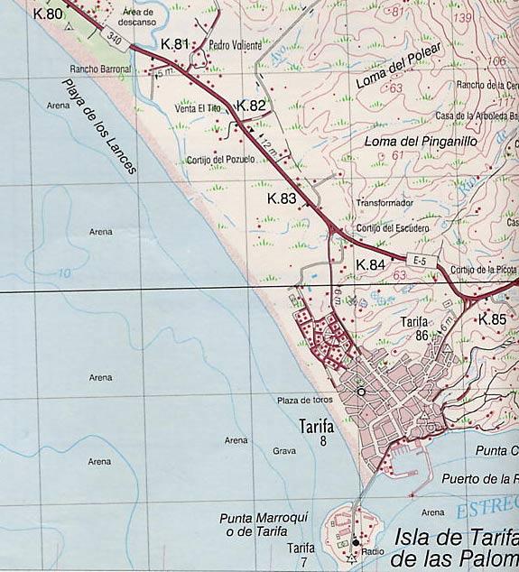 Mapa De Tarifa Cadiz.H O T E L Tarifa Mapa De Tarifa Map